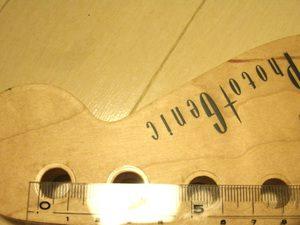 フォトジェニックST-180のペグ穴を計測