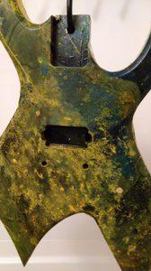 マーブル塗装に失敗したギター