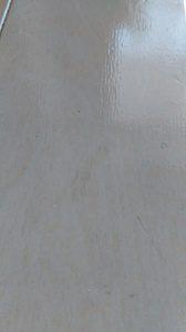 ワックス後の凹みの跡