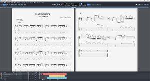 Guitar pro 7.5の画面